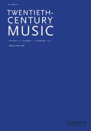 Twentieth-Century Music Volume 14 - Issue 1 -  Tape