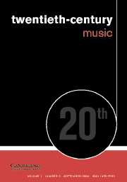 Twentieth-Century Music Volume 1 - Issue 2 -