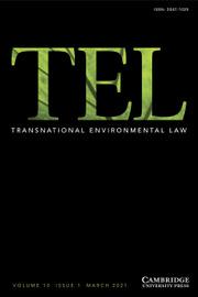 Transnational Environmental Law Volume 10 - Issue 1 -