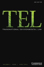 Transnational Environmental Law Volume 5 - Issue 1 -