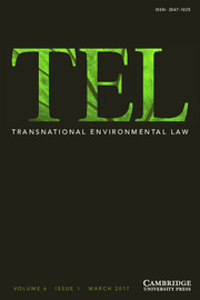 Transnational Environmental Law Volume 6 - Issue 1 -