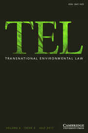 Transnational Environmental Law Volume 6 - Issue 2 -