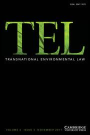 Transnational Environmental Law Volume 6 - Issue 3 -
