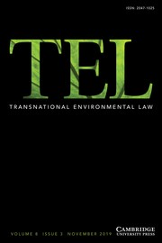 Transnational Environmental Law Volume 8 - Issue 3 -
