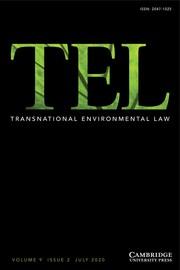 Transnational Environmental Law Volume 9 - Issue 2 -