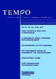Tempo Volume 61 - Issue 240 -
