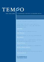 Tempo Volume 61 - Issue 242 -