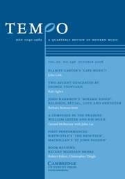 Tempo Volume 62 - Issue 246 -