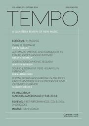 Tempo Volume 68 - Issue 270 -