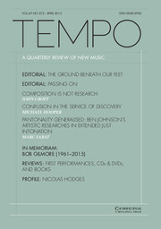 Tempo Volume 69 - Issue 272 -