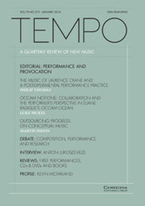 Tempo Volume 70 - Issue 275 -