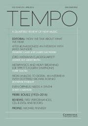 Tempo Volume 70 - Issue 276 -