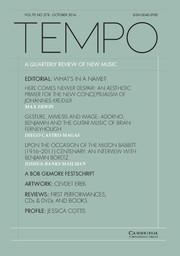 Tempo Volume 70 - Issue 278 -