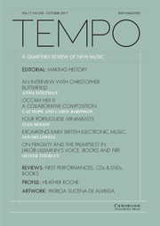 Tempo Volume 71 - Issue 282 -