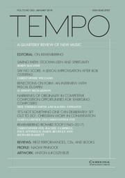 Tempo Volume 72 - Issue 283 -