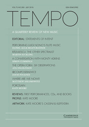 Tempo Volume 72 - Issue 285 -