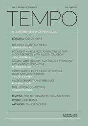 Tempo Volume 72 - Issue 286 -
