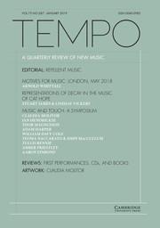 Tempo Volume 73 - Issue 287 -