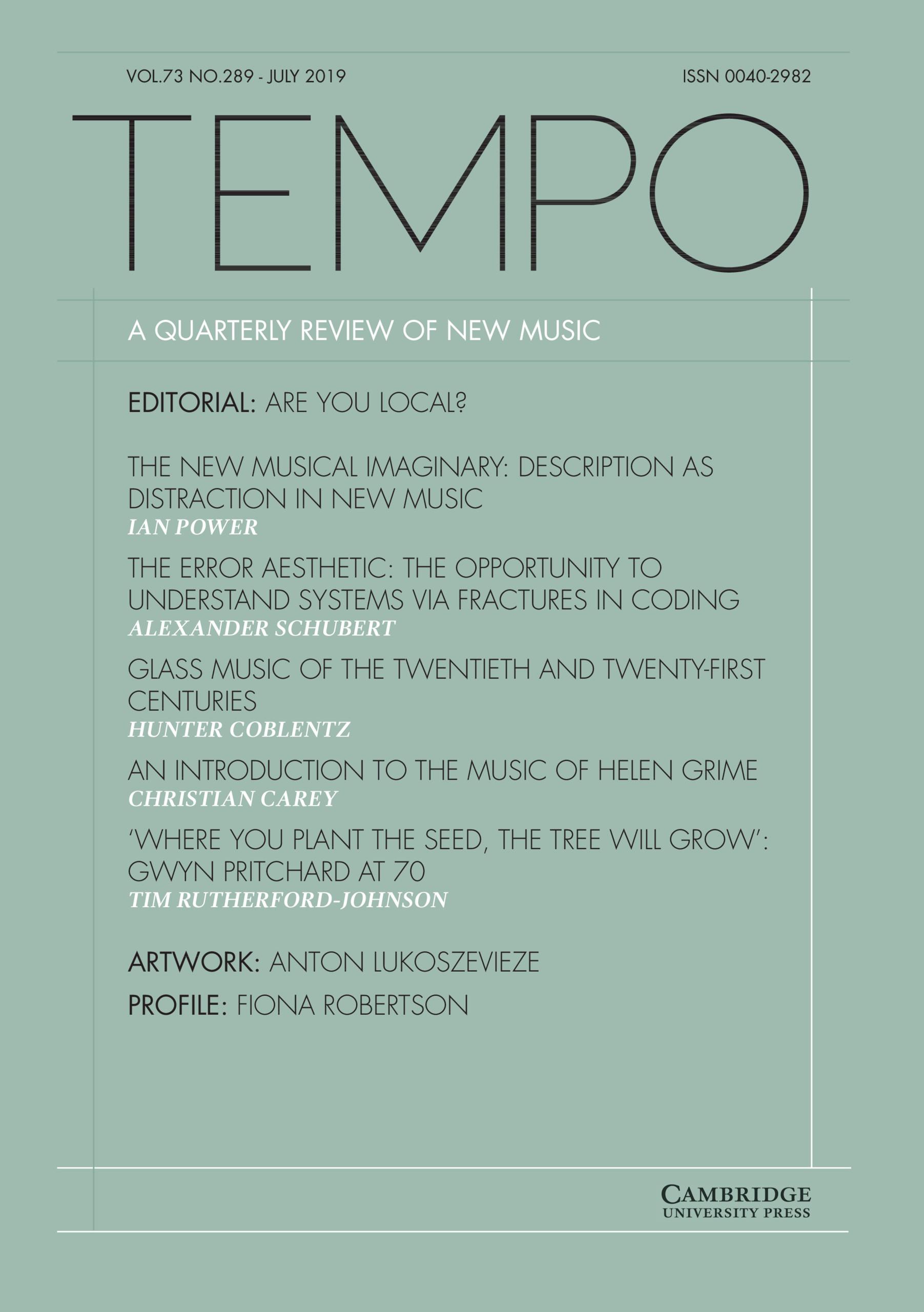 Tempo   Latest issue   Cambridge Core