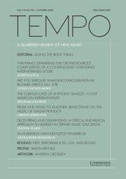 Tempo Volume 74 - Issue 294 -