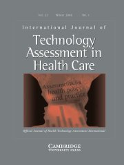 International Journal of Technology Assessment in Health Care Volume 22 - Issue 1 -