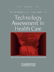 International Journal of Technology Assessment in Health Care Volume 23 - Issue 2 -