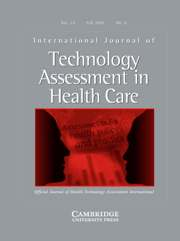 International Journal of Technology Assessment in Health Care Volume 23 - Issue 4 -