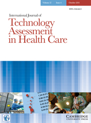 International Journal of Technology Assessment in Health Care Volume 27 - Issue 4 -