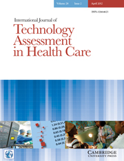 International Journal of Technology Assessment in Health Care Volume 28 - Issue 2 -
