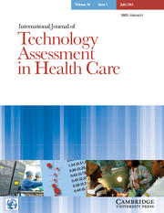 International Journal of Technology Assessment in Health Care Volume 28 - Issue 3 -
