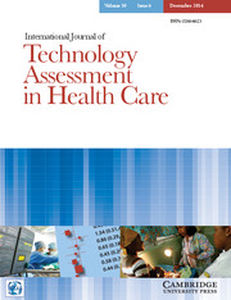 International Journal of Technology Assessment in Health Care Volume 30 - Issue 6 -