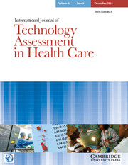 International Journal of Technology Assessment in Health Care Volume 32 - Issue 6 -