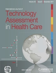 International Journal of Technology Assessment in Health Care Volume 33 - Issue 6 -