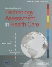 International Journal of Technology Assessment in Health Care Volume 34 - Issue 4 -