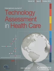 International Journal of Technology Assessment in Health Care Volume 34 - Issue 5 -
