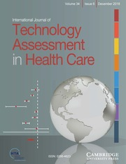 International Journal of Technology Assessment in Health Care Volume 34 - Issue 6 -