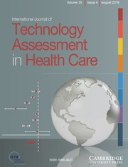 International Journal of Technology Assessment in Health Care Volume 35 - Issue 4 -