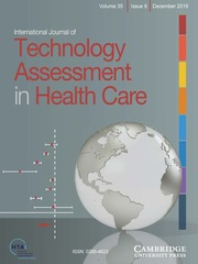 International Journal of Technology Assessment in Health Care Volume 35 - Issue 6 -