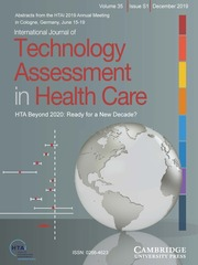 International Journal of Technology Assessment in Health Care Volume 35 - Special IssueS1 -  HTA Beyond 2020: Ready for a New Decade?