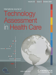International Journal of Technology Assessment in Health Care Volume 36 - Issue 5 -