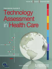 International Journal of Technology Assessment in Health Care Volume 36 - Issue 6 -