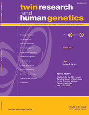 Twin Research and Human Genetics Volume 15 - Issue 4 -