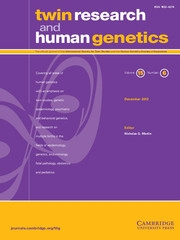 Twin Research and Human Genetics Volume 15 - Issue 6 -