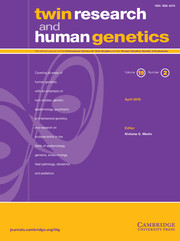 Twin Research and Human Genetics Volume 19 - Issue 2 -
