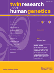 Twin Research and Human Genetics Volume 19 - Issue 5 -
