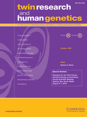 Twin Research and Human Genetics Volume 21 - Issue 5 -  Special Section: Abstracts for the 42nd Human Genetics Society of Australasia Annual Scientific Meeting, Sydney, New South Wales, August 4–7, 2018