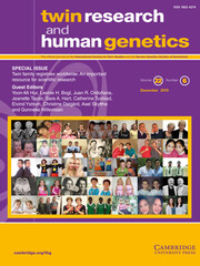 Twin Research and Human Genetics Volume 22 - Special Issue6 -  Twin family registries worldwide: An important resource for scientific research