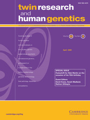 Twin Research and Human Genetics Volume 23 - Special Issue2 -  Festschrift for Nick Martin on the occasion of his 70th birthday
