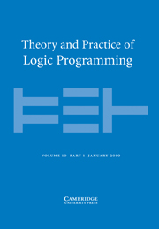 Theory and Practice of Logic Programming Volume 10 - Issue 1 -