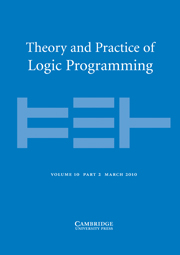 Theory and Practice of Logic Programming Volume 10 - Issue 2 -
